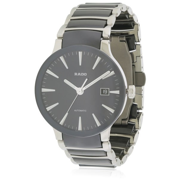 65dffcc8d0a1 Shop Rado Centrix Stainless Steel and Ceramic Automatic Mens Watch - Free  Shipping Today - Overstock.com - 17847304