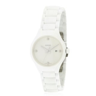 Rado True White Ceramic Ladies Watch R27061712