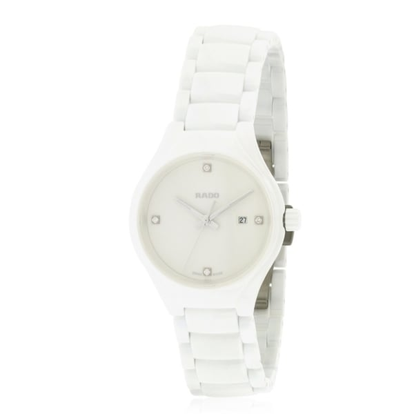 392331690c8 Shop Rado True White Ceramic Ladies Watch R27061712 - Free Shipping Today -  Overstock - 17847314