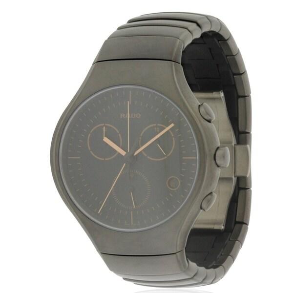 48c19fd7655f Shop Rado True Active Ceramic Chronograph Mens Watch R27897402 ...