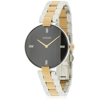 Rado Coupole Diamond Two-Tone Ladies Watch R22850703|https://ak1.ostkcdn.com/images/products/17847321/P24036053.jpg?impolicy=medium