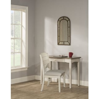 Hillsdale Furniture Clarion Distressed Grey/ White Writing Desk and Chair Set