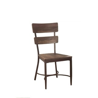 hillsdale furniture casselberry walnut wood and metal desk chair
