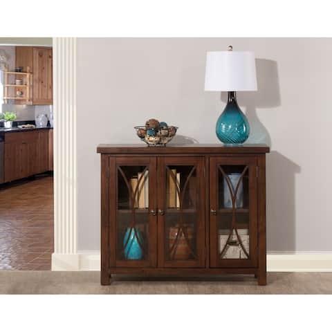 Hillsdale Furniture Bayside Three Door Cabinet ,Rustic Mahogany