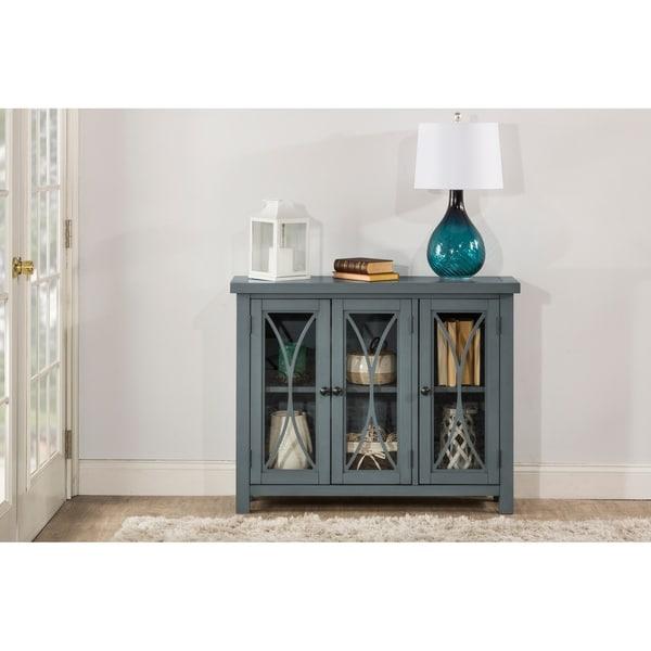 Hillsdale Furniture Bayside Three Door Cabinet, Robin Egg Blue
