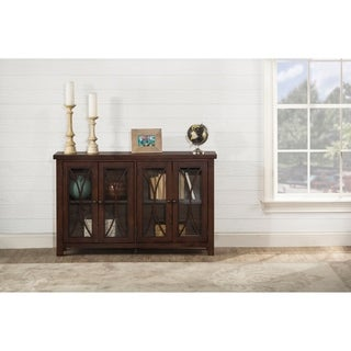 Hillsdale Furniture Bayside Four Door Cabinet , Rustic Mahogany