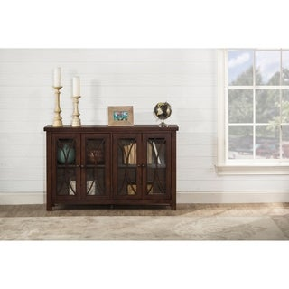 Hillsdale Furniture Bayside Four Door Cabinet , Rustic Mahogany