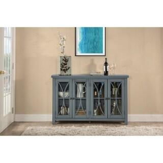 Hillsdale Furniture Bayside Four Door Cabinet,  Robin Egg Blue