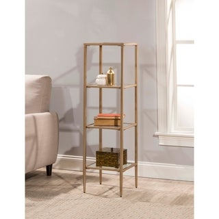 Hillsdale Furniture Harlan Stand with Four Shelves, Gold
