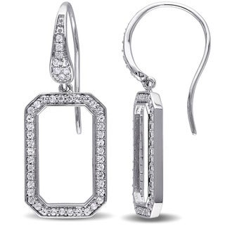 Sterling Silver White Sapphire Dangle Earrings