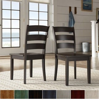 Wilmington II Ladder Back Wood Dining Side Chairs (Set of 2) from iNSPIRE Q Classic