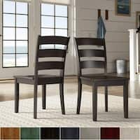 Wilmington II Ladder Back Wood Dining Side Chairs (Set of 2) by iNSPIRE Q Classic