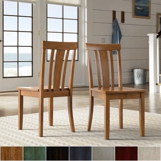 Link to Wilmington II Slat Back Wood Dining Side Chairs by iNSPIRE Q Classic (Set of 2) Similar Items in Dining Room & Bar Furniture