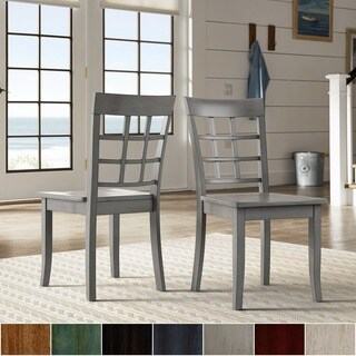 Wilmington II Window Back Wood Dining Side Chairs by iNSPIRE Q Classic (Set of 2)