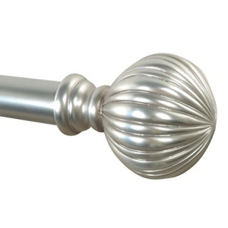 Lynn adjustable single curtain rod with decorative finials