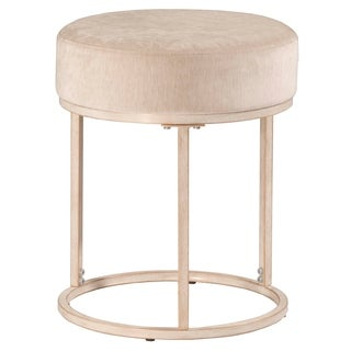 Hillsdale Furniture Swanson White Metal Vanity Stool