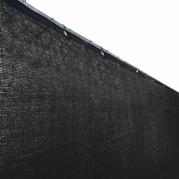 ALEKO 6'X150' Aluminum Eye Fence Privacy Outdoor Backyard Black Screen