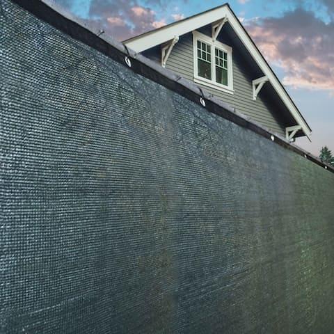 ALEKO 4' X 25' Privacy Outdoor Backyard Fence Wind Screen Green - 4 feet tall x 25 feet long