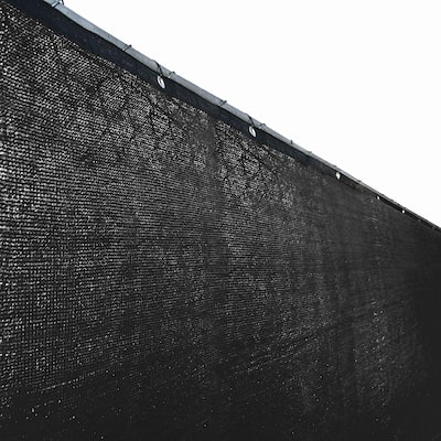 ALEKO 4' X 25' Privacy Outdoor Backyard Fence Wind Screen Black - 25 feet long x 4 feet tall