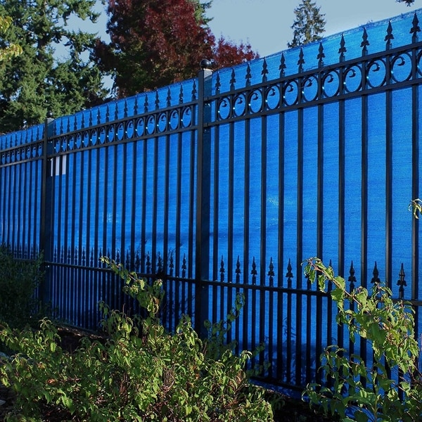 ALEKO 6'X150' Sample Eye Fence Privacy Outdoor Backyard Blue Screen