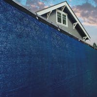 ALEKO 6'x25' Blue Fence Privacy Screen Mesh Fabric With Grommets