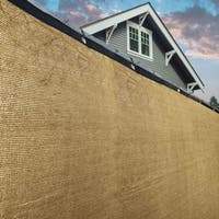 ALEKO 4' X 25' Privacy Outdoor Backyard Fence Wind Screen Beige
