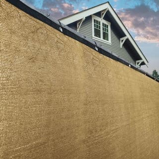ALEKO Beige 8'X50'Outdoor Windscreen Fence Privacy Screen with Grommet - 8 feet tall x 50 feet long