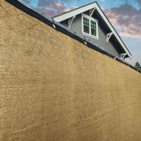 ALEKO Beige 8'X50'Outdoor Windscreen Fence Privacy Screen with Grommet