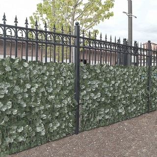 """ALEKO 94""""X39"""" Privacy Artificial Fence Screen Hedge Wall Set of 4"""