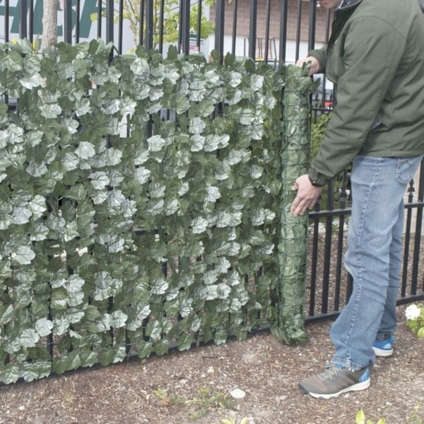 """ALEKO Lot of 4 Faux Ivy Privacy 94/"""" X 39/"""" Fence Screen Artificial Outdoor Decor"""