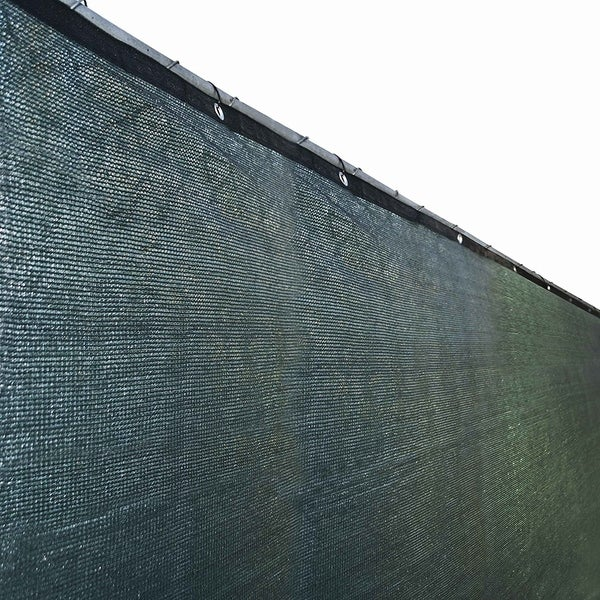 ALEKO 6'X150' Aluminum Eye Fence Privacy Outdoor Backyard Green Screen