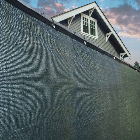 ALEKO Green Fence Mesh Privacy Screen - 50 feet long x 6 feet tall