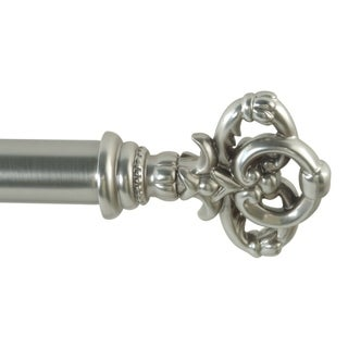 Melissa adjustable single curtain rod with decorative finials