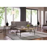Tiago-3pk Coffee Table Set-Rustic Oak