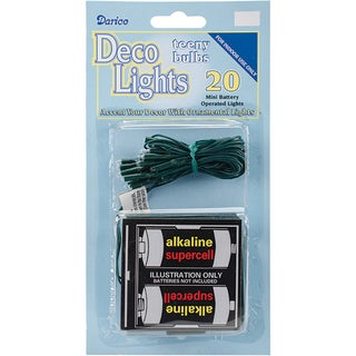 Deco Lights Battery Operated Teeny Bulbs - 20 Bulbs