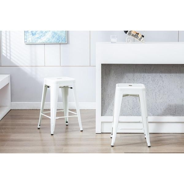 Set of 4 Porthos Home Indoor /& Outdoor Metal Patio Counter Stool