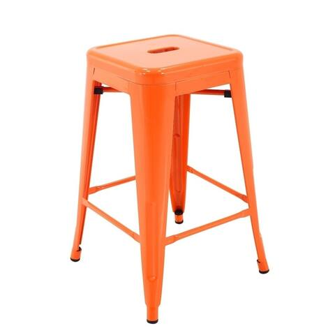 Carbon Loft Athos Indoor and Outdoor Metal Patio Counter Stool (Set of 4)