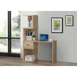 Sonoma Desk With Attached Bookcase and Drawer/OAK