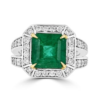 Link to La Vita Vital 14K Two tone Emerald 3.70TGW and Diamond 1.00cts TDW Ring Similar Items in Rings