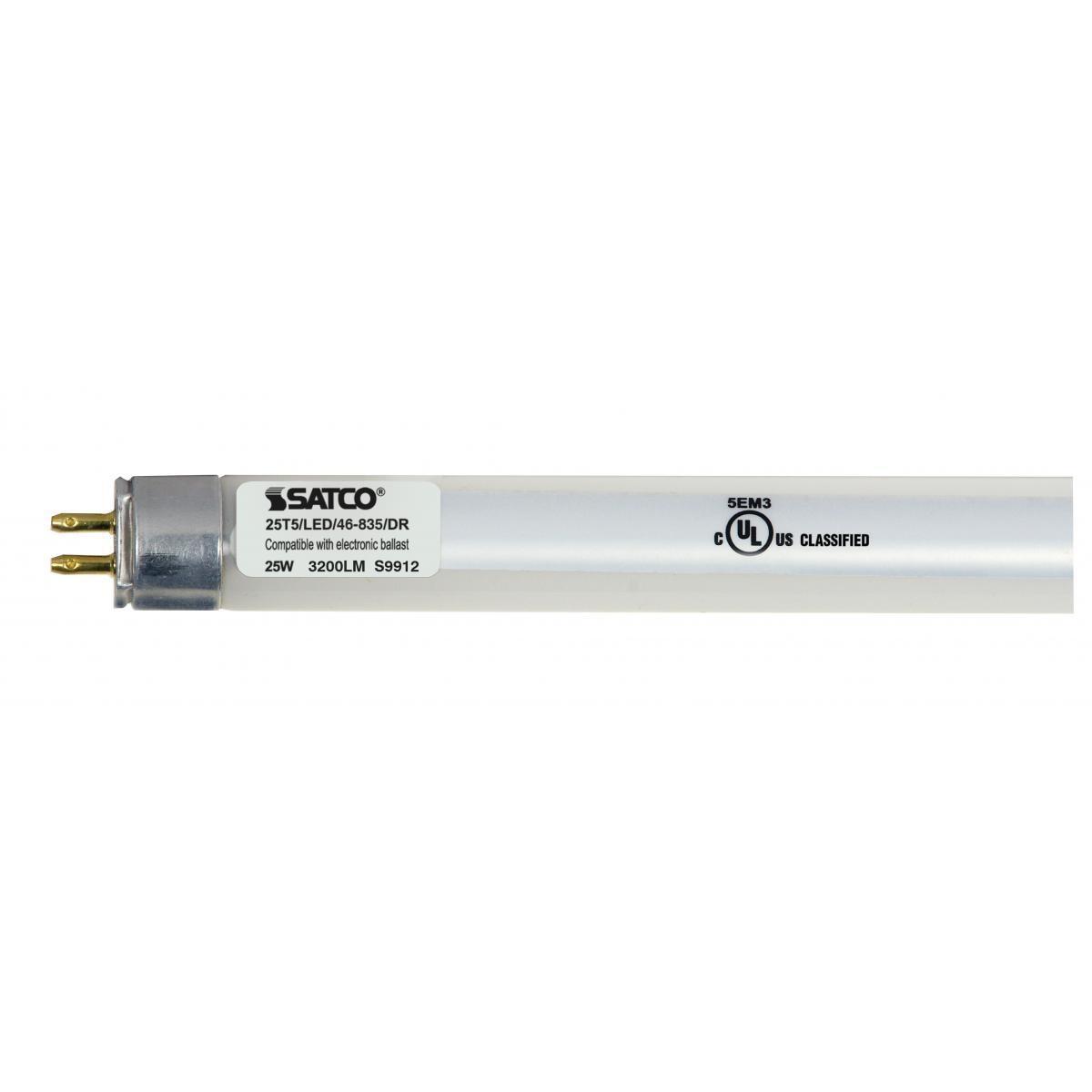 SATCO 25W LED T5 Tube - Miniature Bi-Pin Base - 3500K - 3...