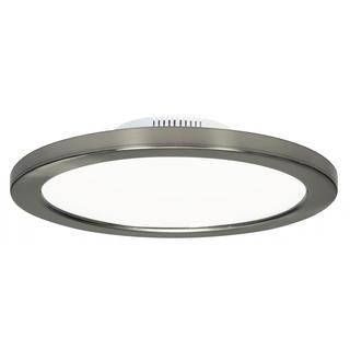 "Satco 16W 9"" Flush Mount LED Fixture - 3000K - Brushed Nickel Finish - 120/277V"