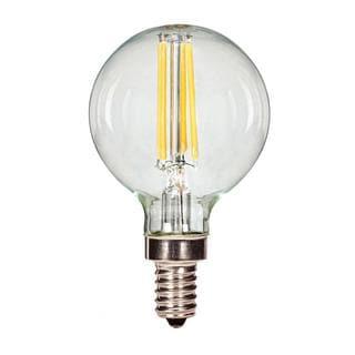 Satco 3.5W LED Filament G16 Globe - Candelabra Base - 2700K - Clear - 120V