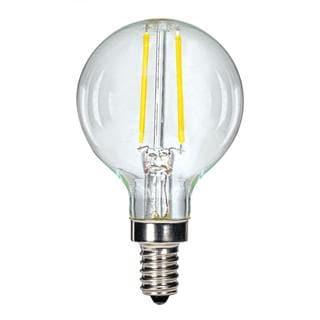 Satco 2.5W LED G16.5 Globe - Candelabra Base - 2700K - Clear - 120V