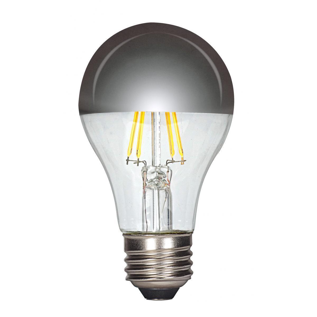SATCO 6.5W LED A19 - Silver Crown - Medium Base - 2700K -...