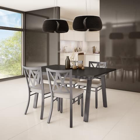 Amisco Washington Metal Chair And Drift Extendable Table Dining Set 4 6 Or 8