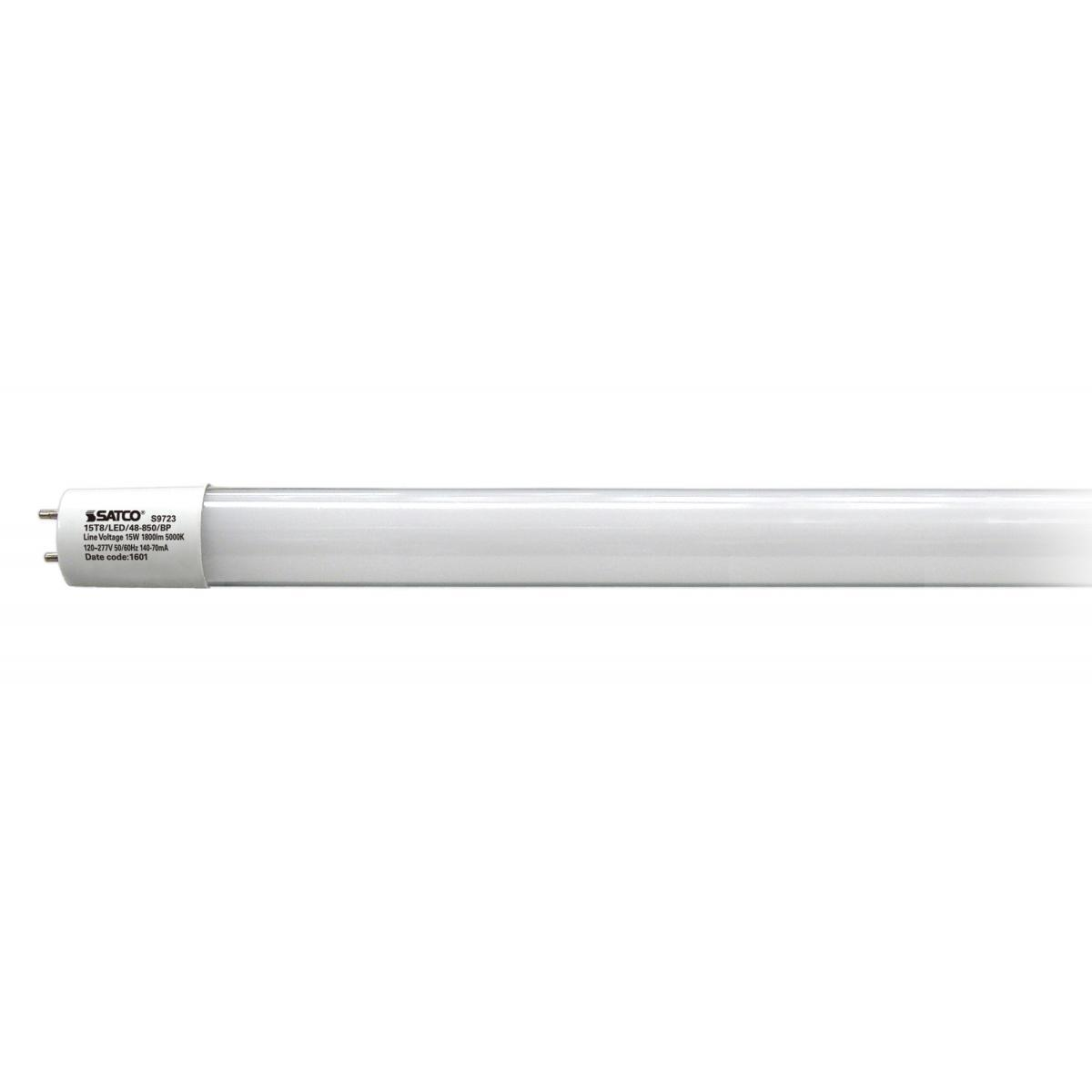 SATCO 15W LED T8 - 4 FT Fluorescent Tube Replacement - Bi...