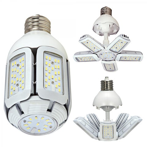 Satco 60W - LED HID Replacement - 2700K - Mogul Base - Adjustable Beam Angle - 100-277V