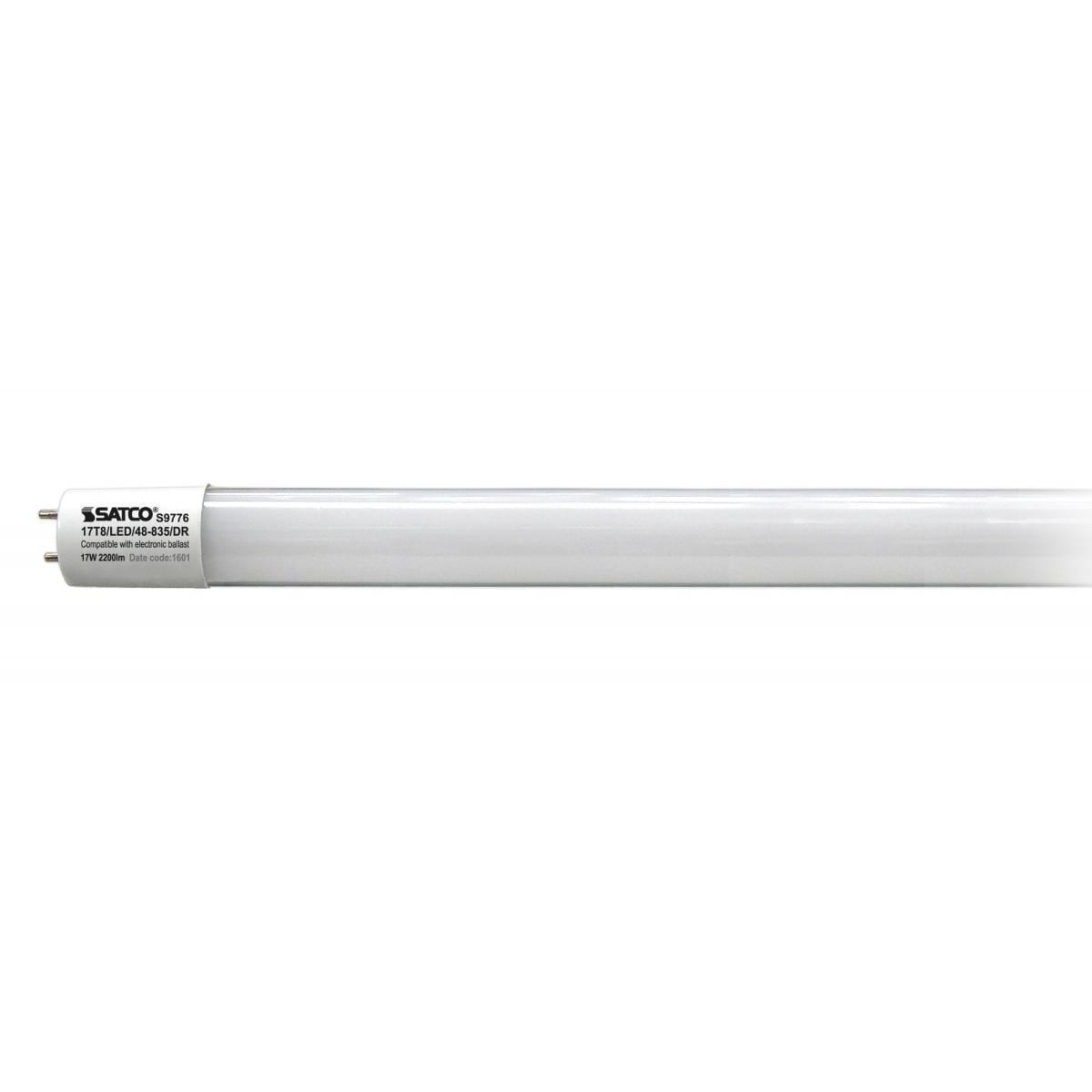 SATCO 17W LED T8 4 FT Fluorescent Tube Replacement - Bi-P...