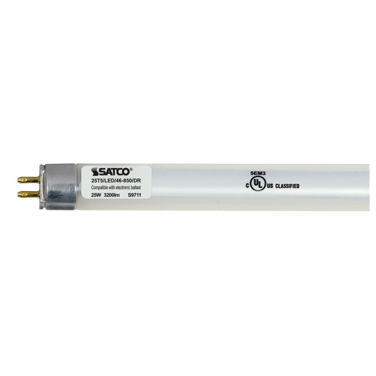 SATCO 25W LED T5 - 4 FT Fluorescent Tube Replacement - Bi...