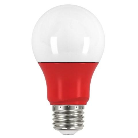 Satco 2W A19 LED - Medium Base - Red When Lit - 120V
